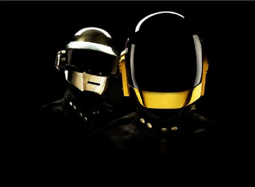 DAFT PUNK - Black out cross hatch art canvas print - self adhesive poster - photo print